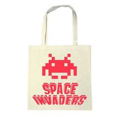 Space Invaders Cotton Tote Bag