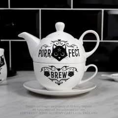 Purrfect Brew Tea for One Set