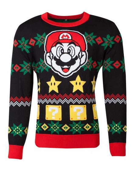Super Mario Knitted Jumper (S)