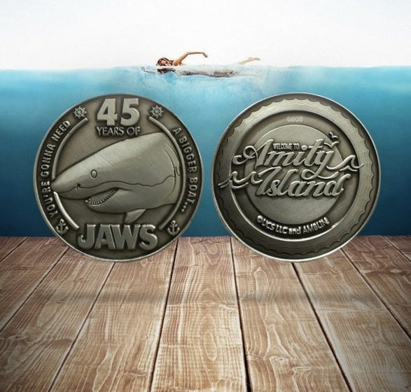 Jaws 45th Anniversary Collectible Coin