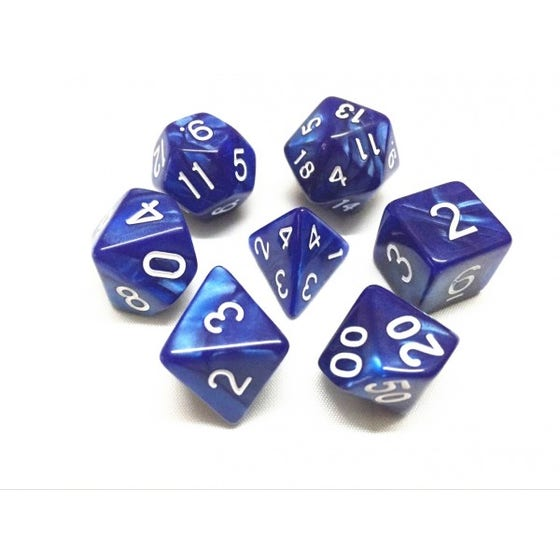 Pearl Poly Blue /White (7)