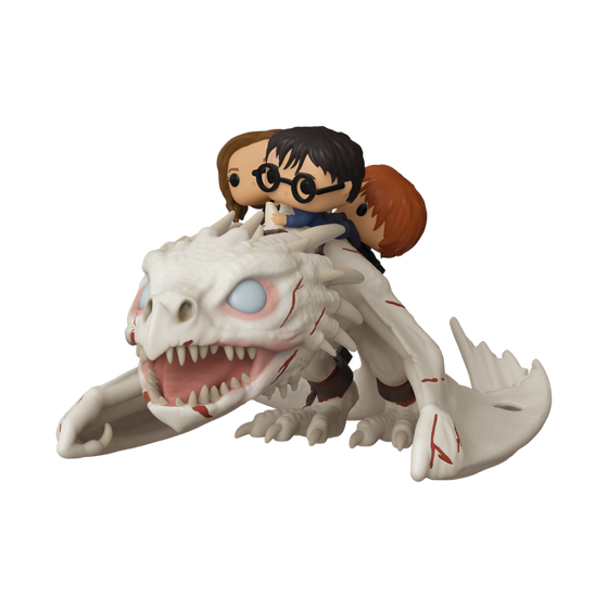 Pop Rides Dragon With Harry Ron & Hermione Vin Fig