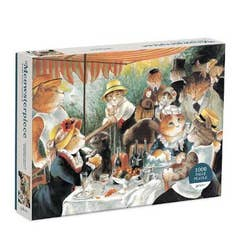 Luncheon of the Boating Party Meowsterpiece of Western Art 1000 Piece Puzzle