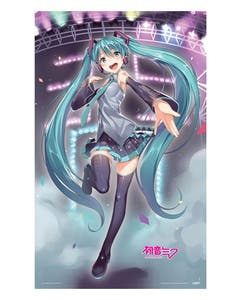 Miku on Stage Fabric Poster 98x160 cm