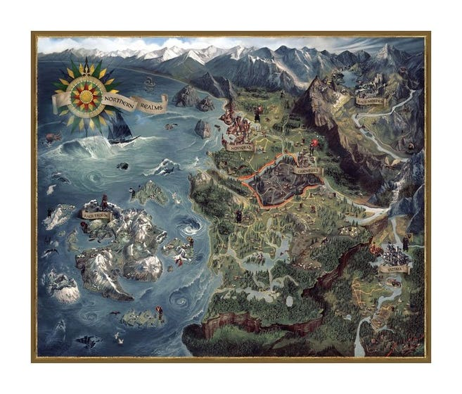 Northern Realms Map Puzzle (1000)