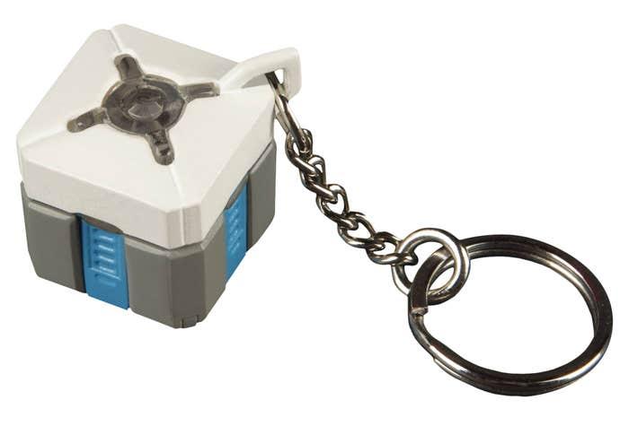 Lootbox Light-Up Keychain