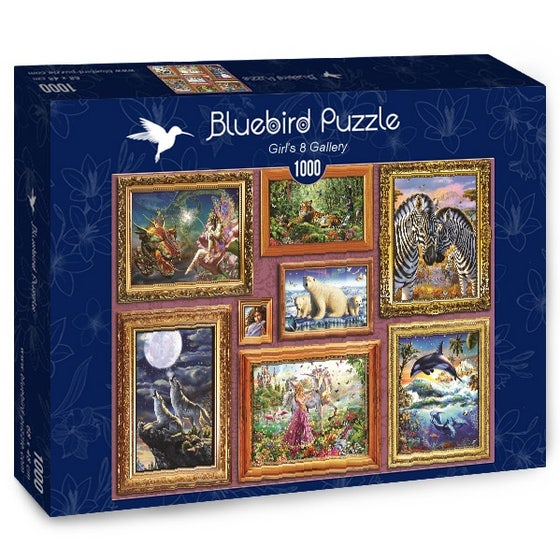Girl's 8 Gallery Puzzle (1000)