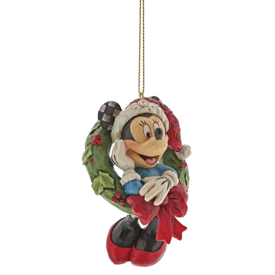 Minnie Mouse Christmas Hanging Ornament 8cm