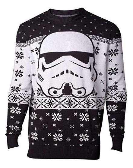 Stormtrooper Head Knitted Men's Sweater (S)