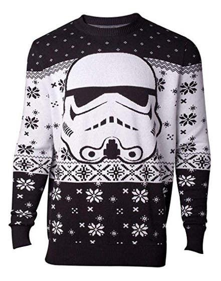 Stormtrooper Head Knitted Men's Sweater (XL)