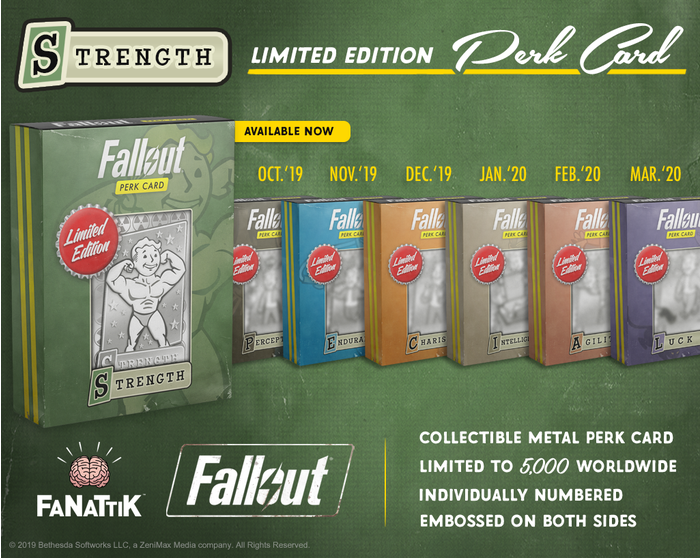 Strength Fallout Limited Edition Perk Card
