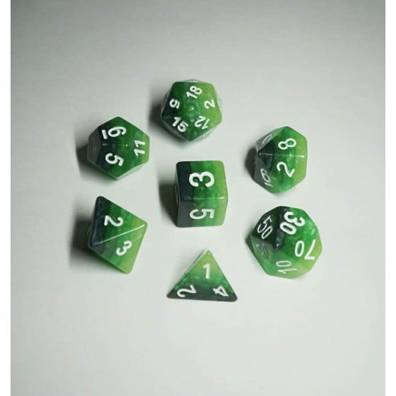Gradients Poly Green /Silver (7)