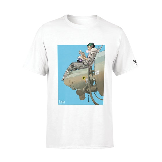 Alana Bubblegum White T-Shirt (L)