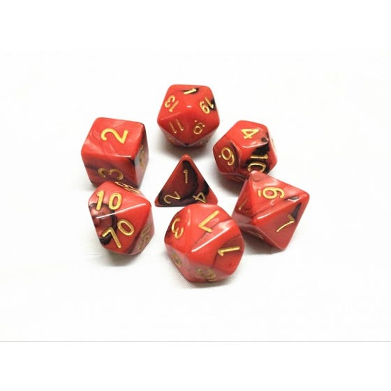 Blend Poly Red, Black /Gold (7)