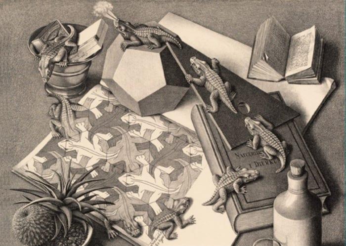 MC Escher Reptiles Puzzle (1000)