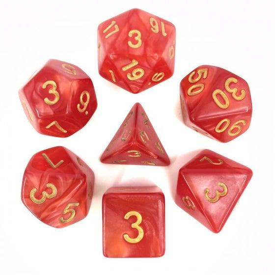 Pearl Poly Red /Gold (7)