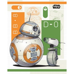 BB-8 and D-0 Mini Poster 40x50 cm
