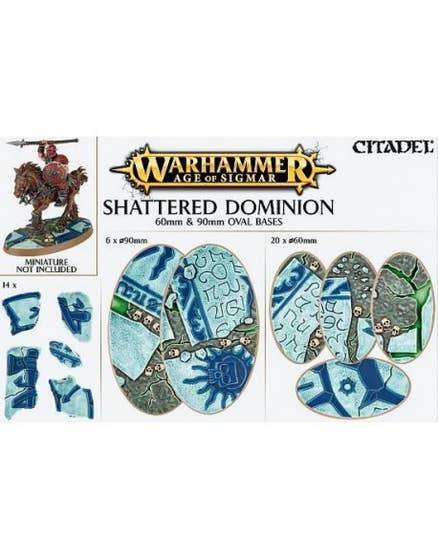 Shattered Dominion: Round bases 60x90 mm