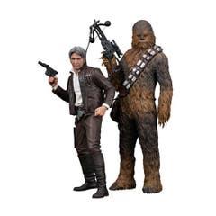 Han Solo & Chewbacca ARTFX+ Statue 2-Pack 20-23 cm