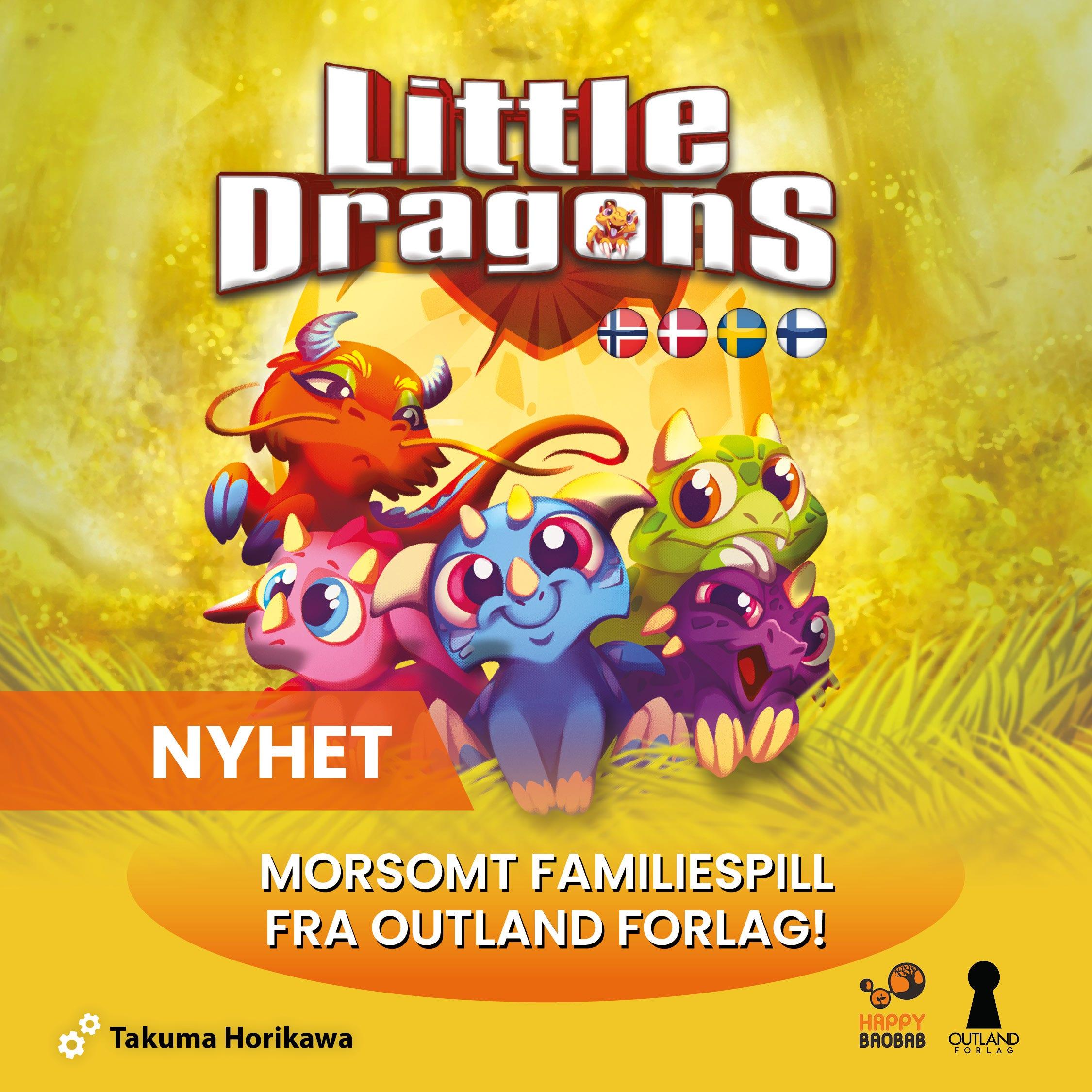 Nyhet! Little Dragons - et strategisk familiespill på norsk