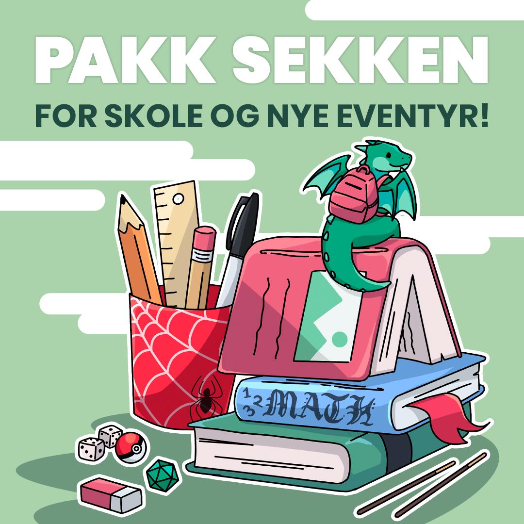 Pakk sekken for skole og nye eventyr! Få en unik skolestart